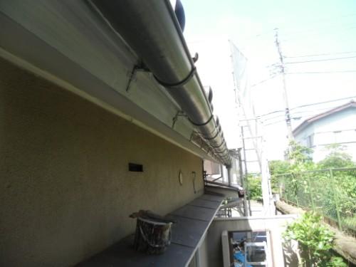 横浜市磯子区:破風上塗り