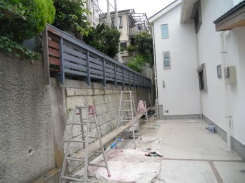 横浜市磯子区:フェンス下塗り後