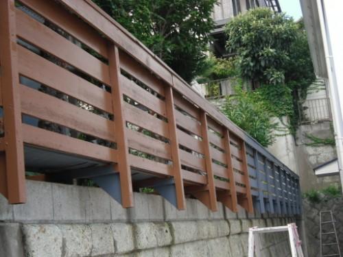 横浜市磯子区:フェンス上塗り