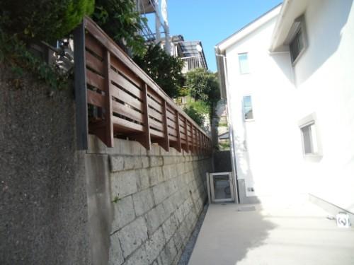横浜市磯子区:フェンス上塗り後