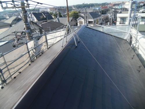 横浜市保土ヶ谷区:屋根の上塗り後2