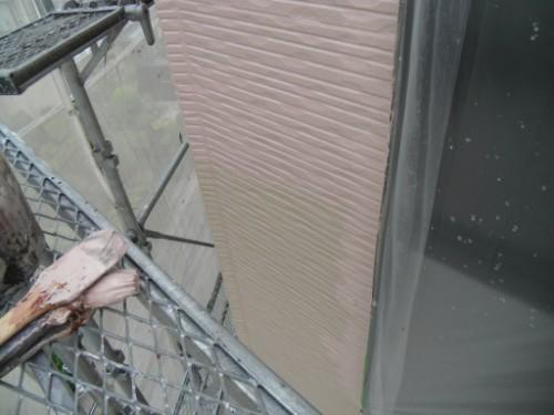 横浜市保土ヶ谷区:外壁上塗りダメ込み