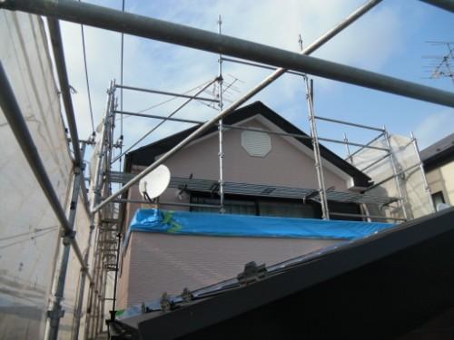 横浜市保土ヶ谷区:外壁上塗り後