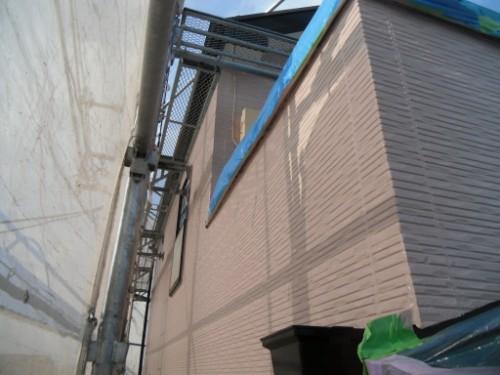 横浜市保土ヶ谷区:外壁上塗り後2