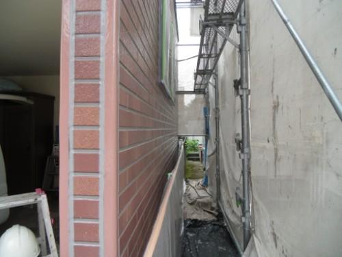 横浜市保土ヶ谷区:外壁下塗り後