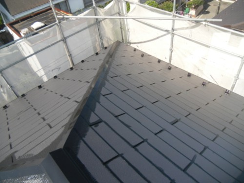 横浜市金沢区:屋根上塗りダメ込み2