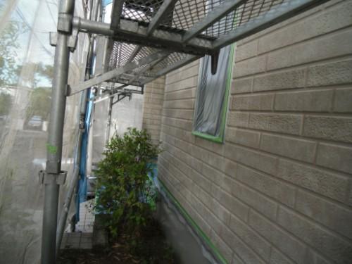 横浜市金沢区:窓、基礎、玄関周り養生