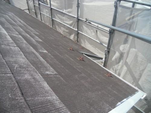 逗子市桜山:雨押さえサビ止め
