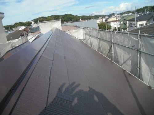 逗子市桜山:屋根上塗り後