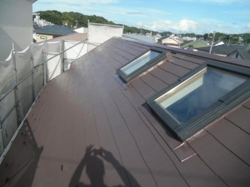 逗子市桜山:屋根上塗り後2