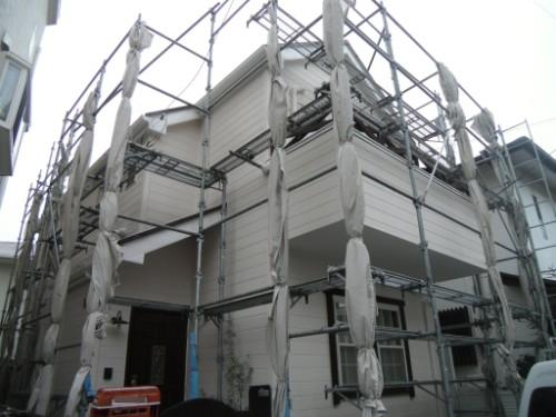 逗子市桜山:塗装後の外観