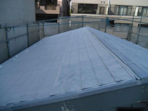 横浜市神奈川区:屋根下塗り