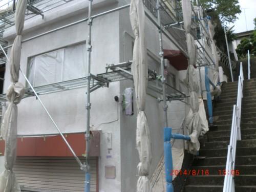 川崎市麻生区:外壁下塗り後