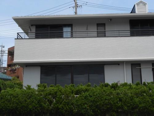 横浜市旭区:塗装完了後のベランダ
