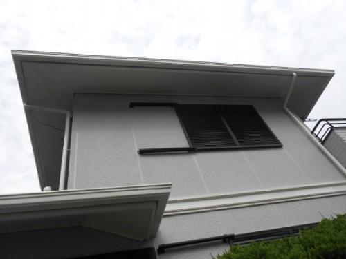 横浜市旭区:塗装完了後のパネル式外壁