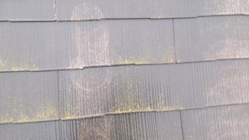 町田市本町田:屋根の洗浄中
