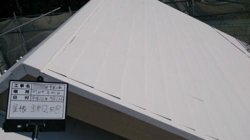 町田市本町田:屋根中塗り2回目完了