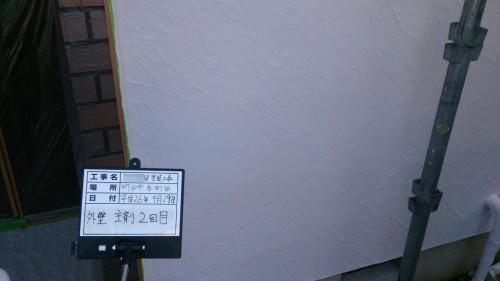 町田市:外壁中塗り2回目完了