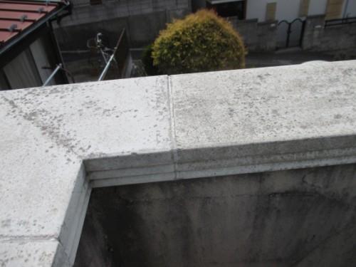 横浜市旭区:打ち替え前の笠木シーリング