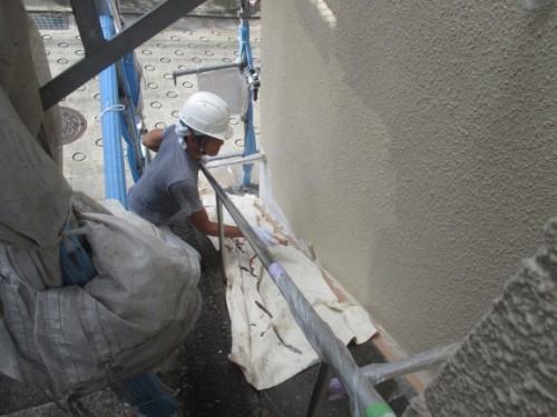 川崎市麻生区:外壁中塗り