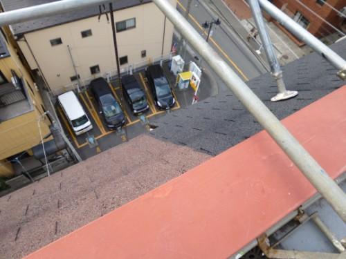 川崎市川崎区:塗装前後の屋根