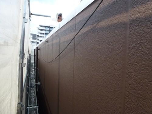2014年4月9日 神奈川区:塗装完了後のALC外壁
