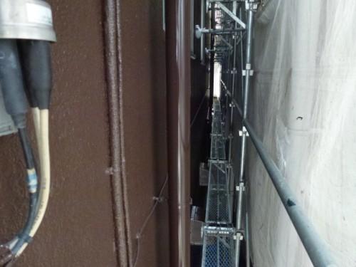 2014年4月9日 神奈川区:塗装完了後のドレンパイプ