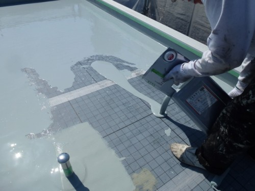 2014年4月15日 神奈川区:平場ウレタン防水1層目