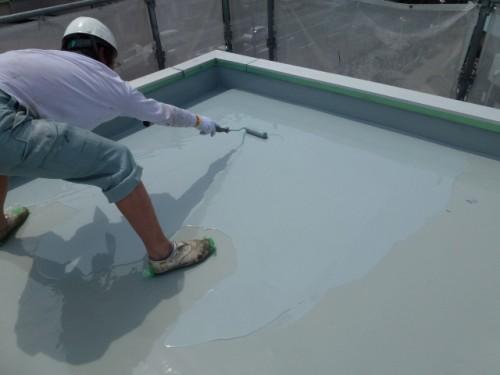 2014年4月16日 神奈川区:屋上ウレタン防水2層目2