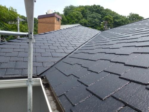 横浜市旭区:塗装後の屋根