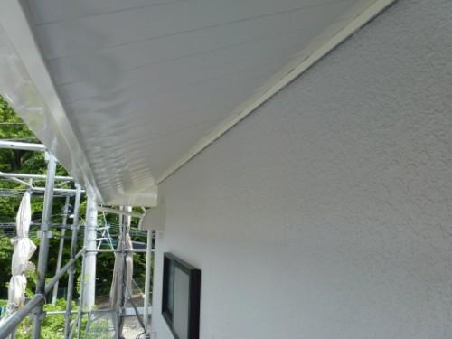 横浜市旭区:塗装後の軒