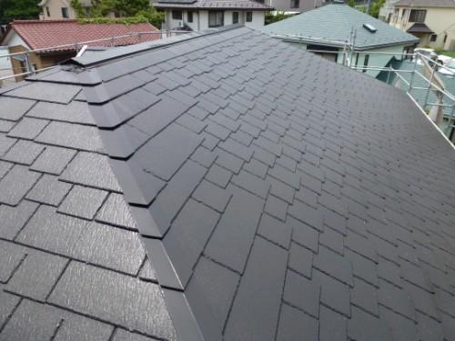 横浜市旭区:塗装後の屋根2