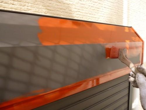 川崎市宮前区:シャッターボックス錆止め塗布