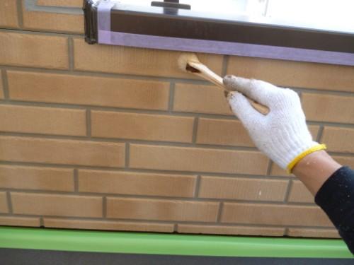 川崎市宮前区:外壁クリヤー塗装ダメ込み