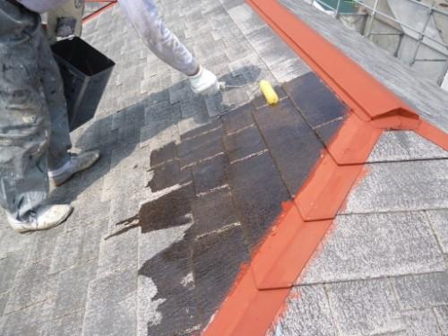 横浜市旭区:屋根下塗り