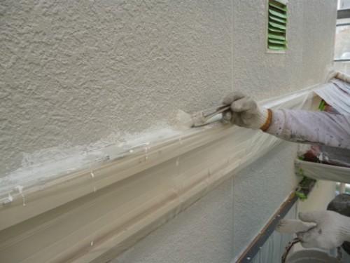 横浜市旭区:外壁上塗りダメ込み