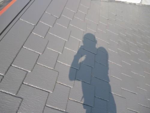 横浜市旭区:屋根中塗り完了