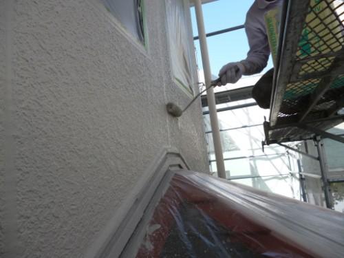 横浜市旭区:外壁上塗り
