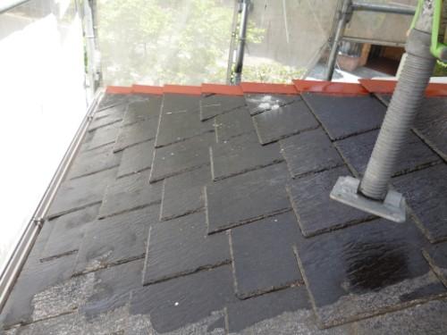横浜市旭区:下屋根シーラー下塗り2