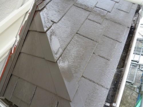 横浜市旭区:下屋根中塗り