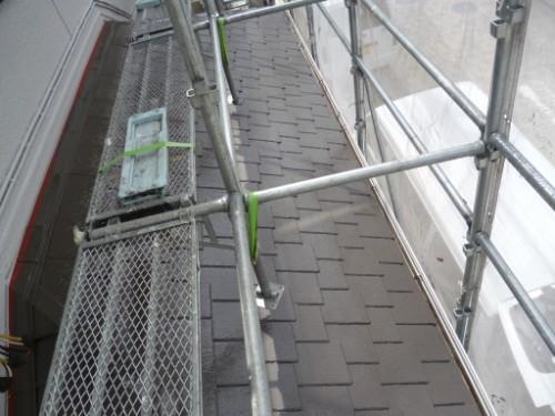 横浜市旭区:下屋根中塗り後2