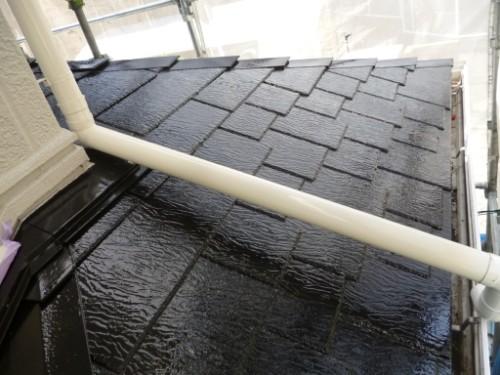 横浜市旭区:下屋根上塗り完了後2