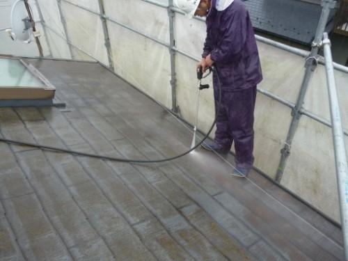 東京都大田区:屋根高圧洗浄