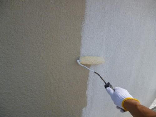 東京都大田区:モルタル外壁フィラー下塗り