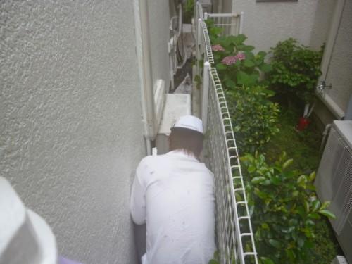 東京都大田区:外壁上塗り