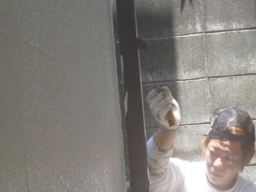 東京都大田区:雨樋塗装