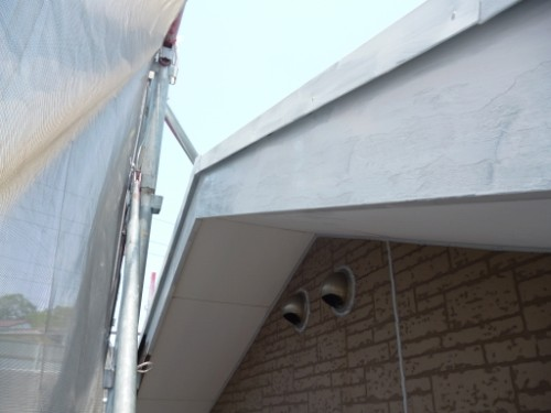 横浜市保土ヶ谷区:破風板下塗り後