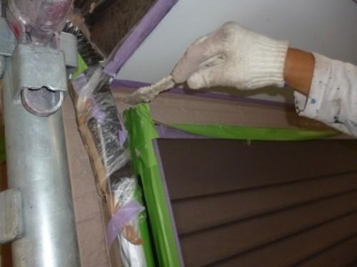 横浜市保土ヶ谷区:外壁中塗り2回目ダメ込み