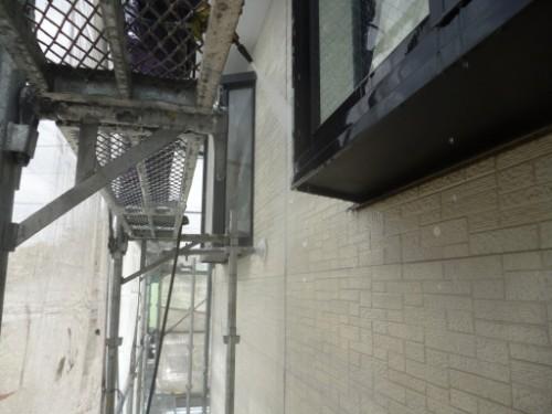 相模原市中央区:サイディング外壁洗浄中