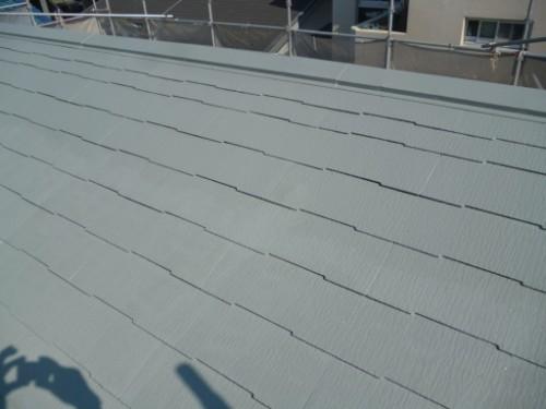 横浜市保土ヶ谷区:屋根上塗り完了後